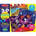 Melissa & Doug Adventure 3D Reusable Sticker Pad: