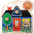 Melissa & Doug Jumbo Knob Puzzles - First Shapes (5 Pieces):
