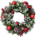 Wreath Harvard Frosted 53T 50cm: