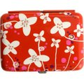 Pylones Red with White Flowers Cigarette Case: