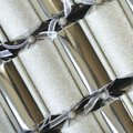 Luxury Silver Glitter Christmas Crackers (6 Pack):