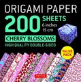 Origami Paper 200 sheets Cherry Blossoms 6 inch (15 cm), Instructions for 8 Projects Included - High-Quality Origami Sheets...