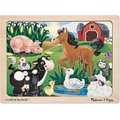 Melissa & Doug Farm Wooden Jigsaw Puzzle (12 Piece):