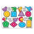 Melissa & Doug Peg Puzzles - Shapes (8 Pieces):