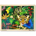 Melissa & Doug Wooden Jigsaw Puzzles - Rainforest (48 Pieces):