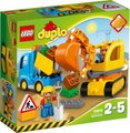 LEGO DUPLO Town Truck & Tracked Excavator: