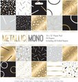Papermania Paper Pad Metallic Mono (12x12)(50 Sheets, including 42 Foiled):