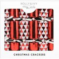 "Holly & Ivy 14"" Luxury Crackers - Red Geometrics (6 Pack):"