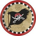 Pirate's Treasure Map - 8 Paper Plates (23 cm):
