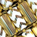 Luxury Gold Chevron Christmas Crackers (6 Pack):
