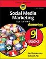 Social Media Marketing All-in-One For Dummies (Paperback, 4th Edition): Jan Zimmerman, Deborah Ng