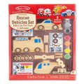 Melissa & Doug Decorate Your Own - Rescue Vehicle Set: