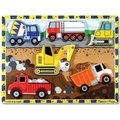 Melissa & Doug Chunky Puzzles - Construction (6 Pieces):