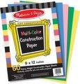 Melissa & Doug Art Supplies - Multi-Colour Construction Paper (9x12):