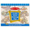 Melissa & Doug Arts and Craft - Jumbo Colouring Pad (Vehicles):