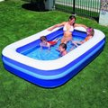 Bestway Rectangular Family Pool (Blue) (269cm x 175cm x 51cm):