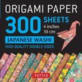Origami Paper - Japanese Washi Patterns- 4 inch (10cm) 300 sheets - Tuttle Origami Paper: High-Quality Origami Sheets Printed...