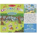 Melissa & Doug Colour Your Own Sticker Pad - Animals: