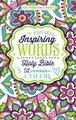NIV, Inspiring Words Holy Bible, Relié - 52 versets à colorier (Relié): Zondervan
