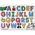 Melissa & Doug Peg Puzzles - See-Inside Alphabet (26 Pieces):