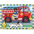 Melissa & Doug Chunky Puzzles - Fire Truck (18 Pieces):