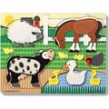 Melissa & Doug Touch And Feel Puzzles - Farm (4 Pieces):