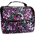 Tosca Large Dotty Printed Sling Vanity Case - Black: