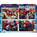 Educa Jigsaw Puzzle - Multi 4 in 1 - Spider-Man (50, 80, 100 & 150 Pieces):