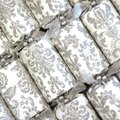 Opulent Silver Christmas Crackers (6 Pack):