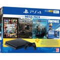 Sony PlayStation 4 Slim Console Bundle (500GB) - With God of War, Grand Theft Auto V: Premium Edition, Days Gone and Fortnite...