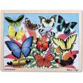 Melissa & Doug Wooden Jigsaw Puzzles - Butterfly Garden (48 Pieces):
