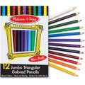 Melissa & Doug Art Supplies ? Jumbo Triangular Coloured Pencils (Set of 12):