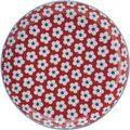 Christopher Vine Cotton Bud Tapas Plate (23cm) (Red): Christopher Vine Designs
