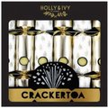"Holly & Ivy 13"" Boutique Crackers - Crackertoa Gold (6 Pack):"