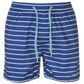Pierre Cardin Mens Stripe Swimshorts - Cobalt/Whte/Sky  [Parallel Import]: