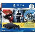 Sony PlayStation 4 Slim Console (500GB) - with Horizon Zero Dawn, Uncharted 4, God of War III Remastered & 3 Months PSN: