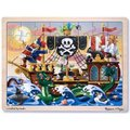 Melissa & Doug Wooden Jigsaw Puzzles - Pirate Adventure (48 Pieces):