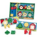 Melissa & Doug Classic Toys - Sort, Match, Attach Nuts & Bolts Board: