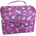 Tosca Medium Floral Printed Vanity Case - Purple: