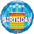 Birthday Cake Blue Round Foil Balloon (46 cm):