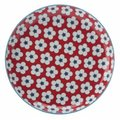Christopher Vine Cotton Bud Side Plate (18.5cm) (Red): Christopher Vine Designs