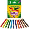 Crayola Half Length Coloured Pencil Crayons (Pack of 12)(Assorted Colours):