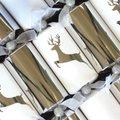 Luxury Silver Reindeer Christmas Crackers (6 Pack):