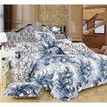 Hometex Cynthia Blue Duvet Set (King):