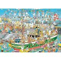 Jumbo Jan Van Haasteren Tall Ship Chaos Jigsaw Puzzle (1000 Piece):