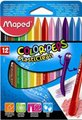 Maped Color'Peps Plastic Crayons (Box of 12)(Assorted):