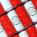 Christmas Wreaths Christmas Crackers (6 Pack):
