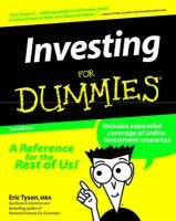 Investing for Dummies (Paperback, 2nd edition): Eric Tyson