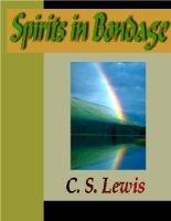Spirits in Bondage: C. S. Lewis