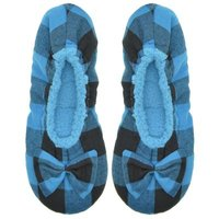 Snoozies® Blue Black Ballerina Plaid: